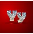 set of aluminum or silver foil letters Letter Y vector image