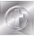 Metal Cross vector image