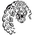 lion head tattoo vector image vector image