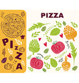Pizza design menu template vector image vector image