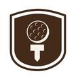 golf design vector image