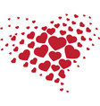 Heart from hearts vector image