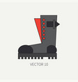 line flat color icon wear - ankle boots vector image