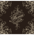 Menu with a flourish vector image
