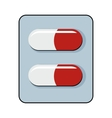 Pills cartoon icon isolated on white background vector image
