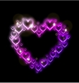 Pink Heart Border with Sparkles vector image