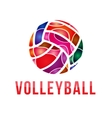 volleyball logo volleyball vector image