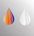 Water drop symbol design vector image