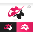 Flower Swoosh Logo Icons vector image