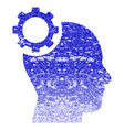 intellect gear grunge textured icon vector image