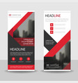 red black triangle business roll up banner vector image