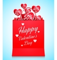 Valentines Day Shopping Concept vector image vector image