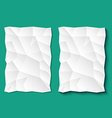 Set of crumpled sheets paper vector image