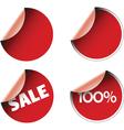 circular labels vector image
