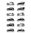 Classic and retro cars vector image vector image