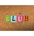 Club Concept vector image
