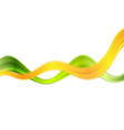 Colorful abstract green orange waves background vector image