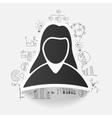 drawing business formulas woman vector image