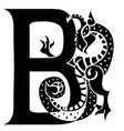 gargoyle capital letter b vector image