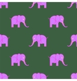Pink Elephant Seamless Pattern vector image