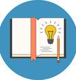 Sketch new idea concept Flat design Icon in blue vector image