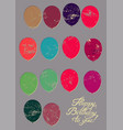 typographical retro grunge birthday card vector image
