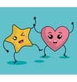 heart character kawaii style vector image