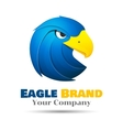 Eagle logo template business icon vector image
