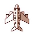 shadow airplane cartoon vector image
