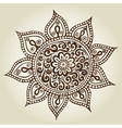 Mandala Round Ornament Pattern Ornamental Flowers vector image