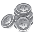 silver coins vector image vector image