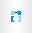 snowman icon sign vector image