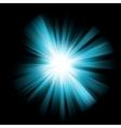 Blue burst color design vector image vector image