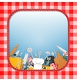 Cooking kitchen background vector image