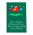 Banner Christmas card templates Posters vector image