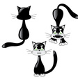 black cat set vector image