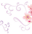 floral background with flower vector image