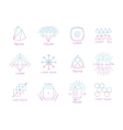Hipster logos with geometric shapes vector image