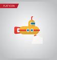 isolated submarine flat icon periscope vector image