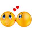 Kissing emoticon vector image