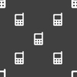 mobile phone icon sign Seamless pattern on a gray vector image