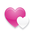 Pink and White Heart Valentines Day vector image
