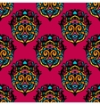 Red colorful Damask Flower seamless vector image
