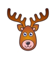 reindeer face christmas icon vector image