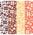Set of seamless pattern with chocolate sweets vector image