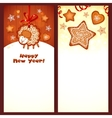 Sweet gingerbread Christmas banners vector image