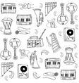 Many element music doodles vector image