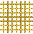 net of rope in brown design vector image