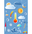 with weather icons vector image