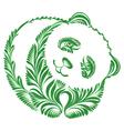 floral decorative ornament panda vector image vector image